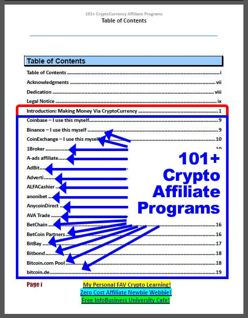 101 CryptoCurrency Affiliate Programs